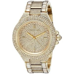 NWT Michael Kors Camille Pave Gold-Tone Watch Gold